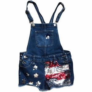 Justice Sequence American Flag Shortalls -SZ 10